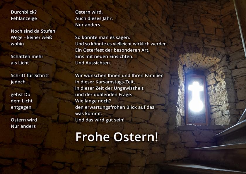 Christus König: Plakat Ostern 2020
