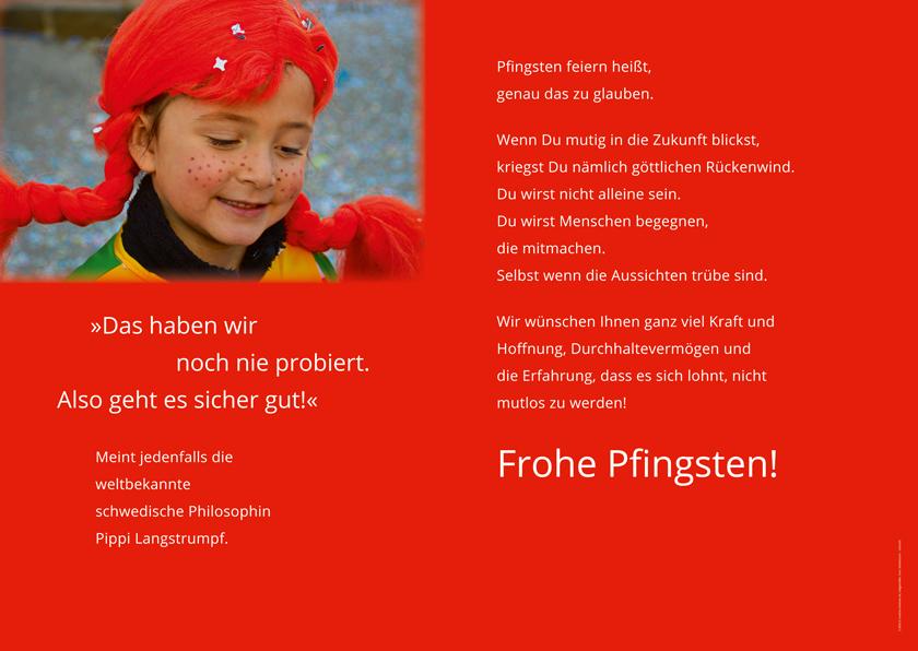 Christus König: Plakat Pfingsten 2020