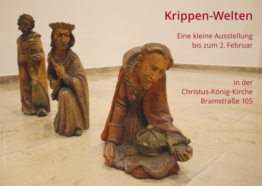 Christus König, Osnabrück: Plakat zur Krippenausstellung
