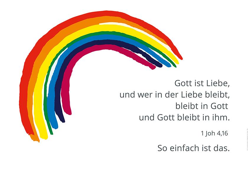 Christus König, Osnabrück: Plakat ›Liebe‹
